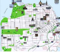 Visual summary of popular landmarks